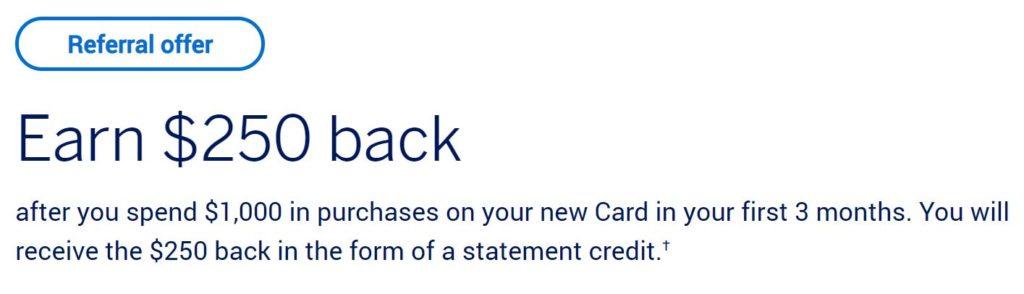 bonus credit card deal cash back